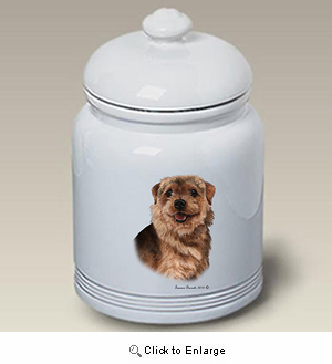 Norfolk Terrier Treat Jar