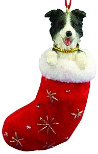 Border Collie Christmas Stocking Ornament