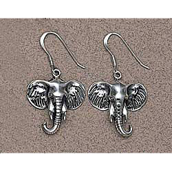 Sterling Silver Elephant Earrings