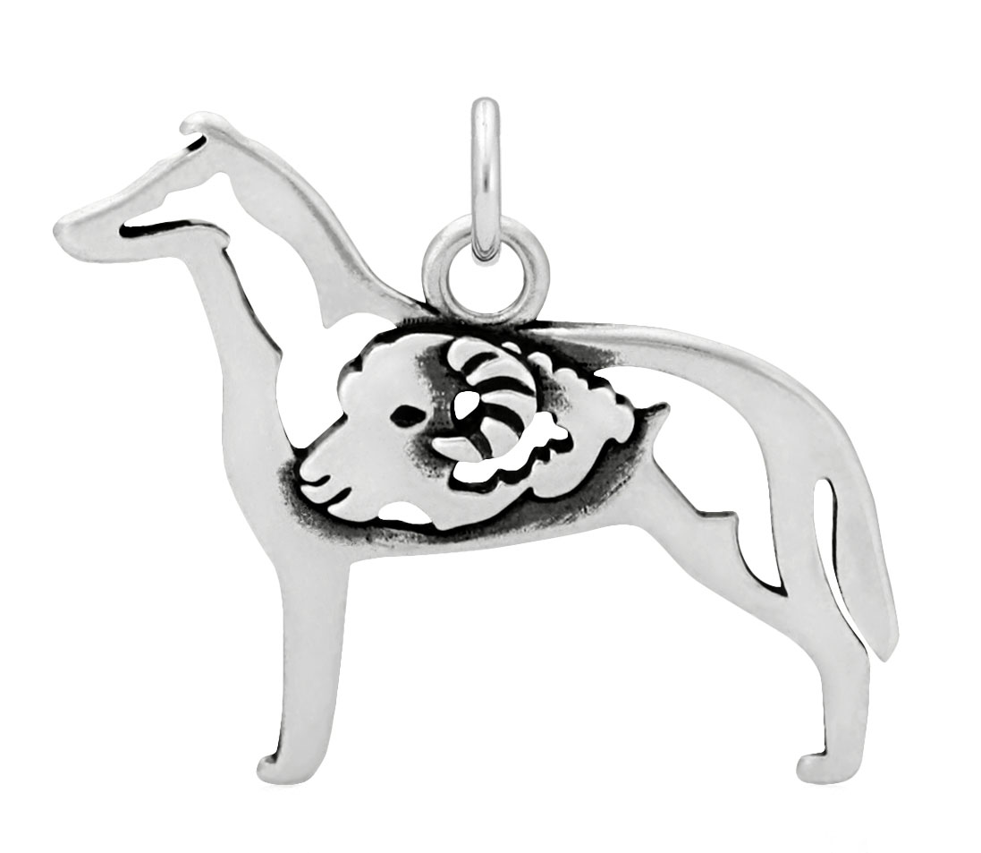 Sterling Silver Collie Smooth Coat W/Ram Body Necklace