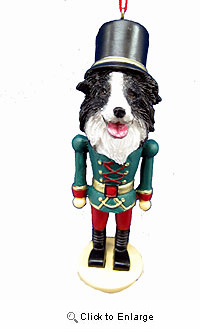 Border Collie Ornament Nutcracker