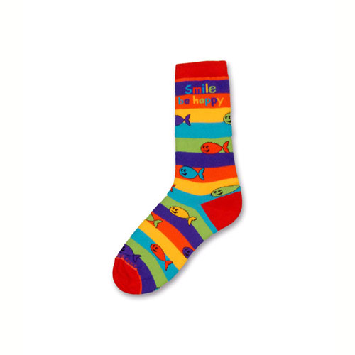 Happy Fish Rainbow Stripes Socks