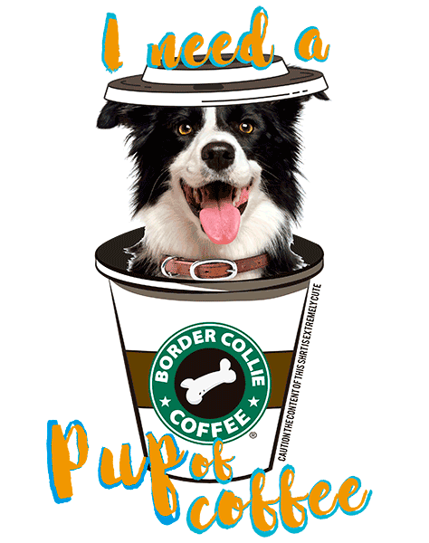 Border Collie T Shirt - Coffee Mug