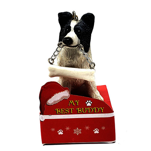 My Best Buddy Border Collie Christmas Ornament