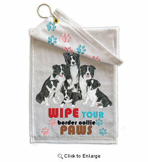 Border Collie Paw Wipe Towel