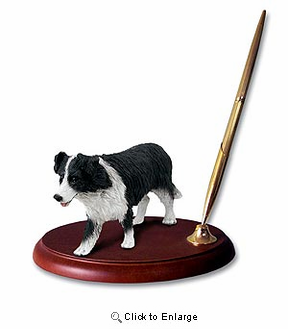 Border Collie Pen Holder