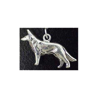 German Shepherd Sterling Silver Charm