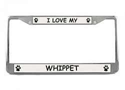 Whippet License Plate Frame