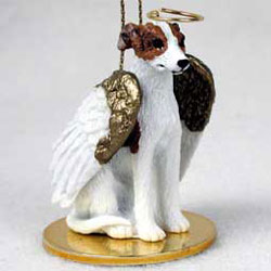 Whippet Christmas Ornament Angel