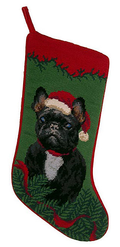 French Bulldog Christmas Stocking Brindle