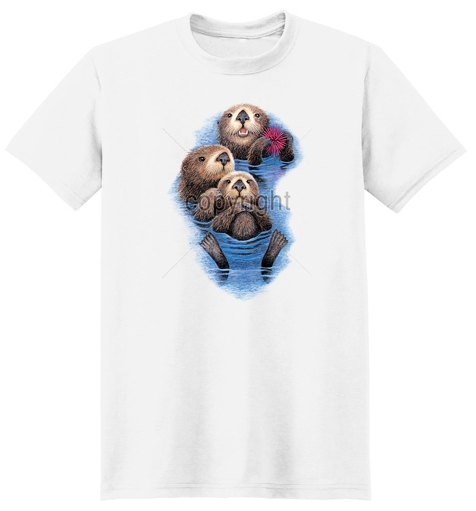Sea Otter T Shirt Floating Along