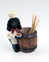 Black Poodle Toothpick Holder