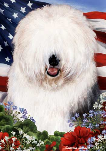 Old English Sheepdog House Flag