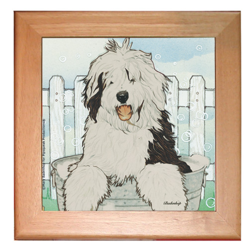 Old English Sheepdog Trivet