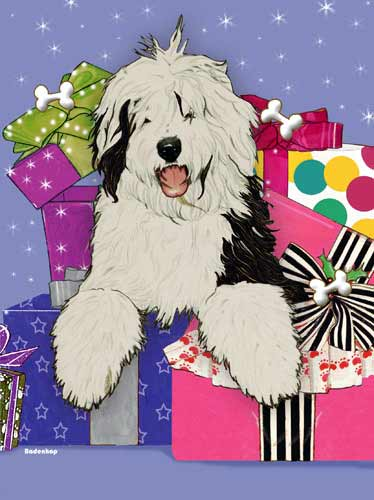 Old English Sheepdog Christmas Cards