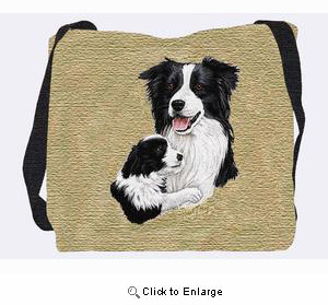 Border Collie Tote Bag (Puppy)