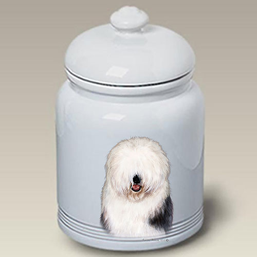 Old English Sheepdog Treat Jar