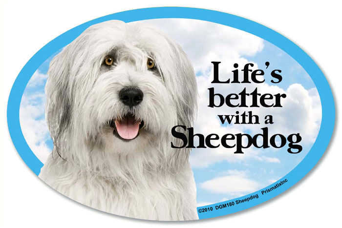 Sheepdog Car Magnet - Life's Better