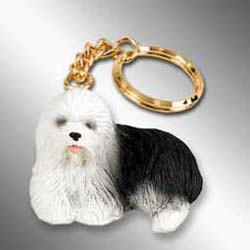 Old English Sheepdog Keychain