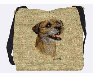 Border Terrier Tote Bag (Brown)