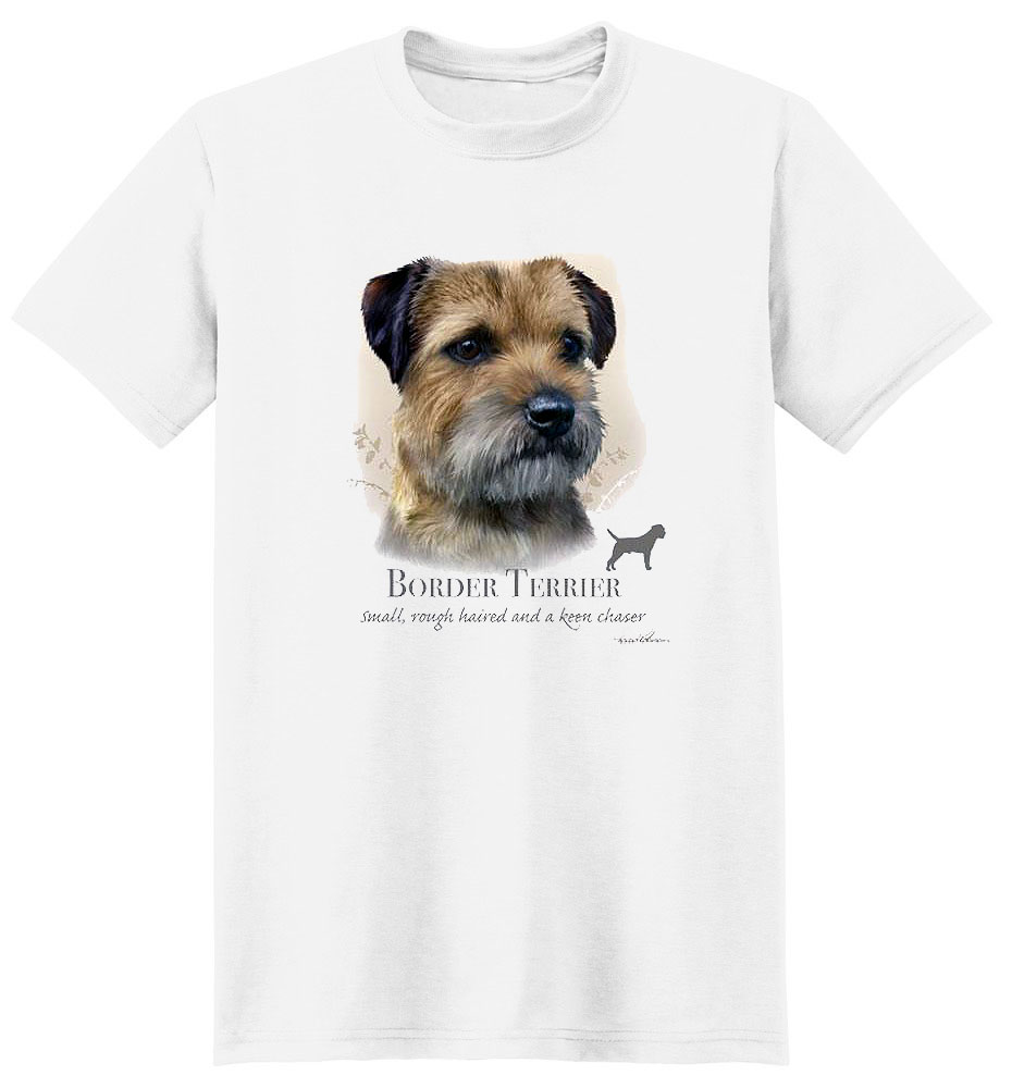 Border Terrier T Shirt by Howard Robinson