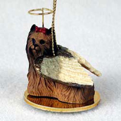 Yorkshire Terrier Christmas Ornament Angel