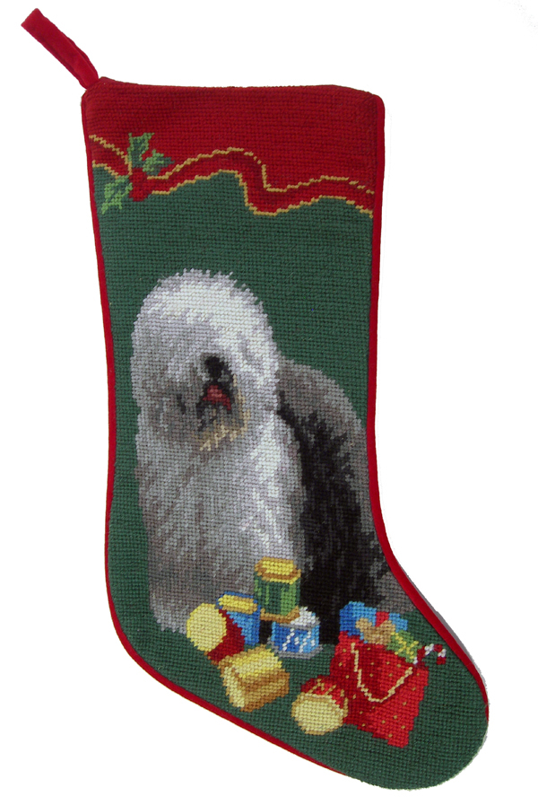 Old English Sheepdog Christmas Stocking