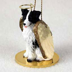 Border Collie Christmas Ornament Angel