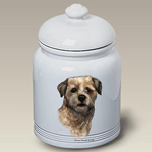 Border Terrier Treat Jar