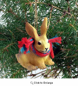 Rabbit Tiny One Christmas Ornament Brown
