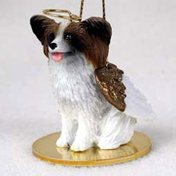 Papillon Christmas Ornament Angel