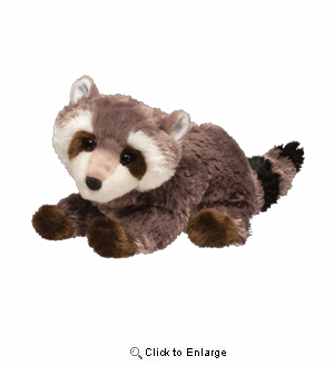 "Raccoon Rascal 10"" Stuffed Plush Animal"