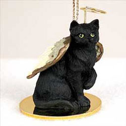 Black Cat Christmas Ornament Angel