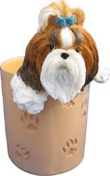 Shih Tzu Pencil Holder Tan