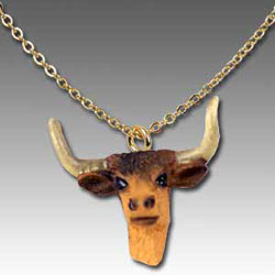 Long Horn Cow Necklace
