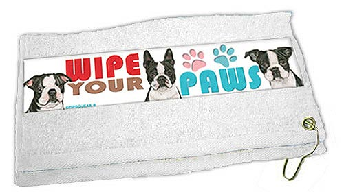 Boston Terrier Paw Wipe Towel