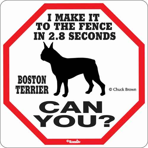 Boston Terrier 2.8 Seconds Sign