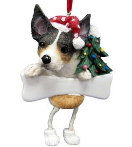Rat Terrier Christmas Tree Ornament - Personalize