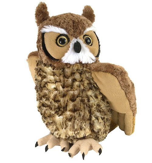 Great Horned Owl Cuddlekins Plush Animal 14