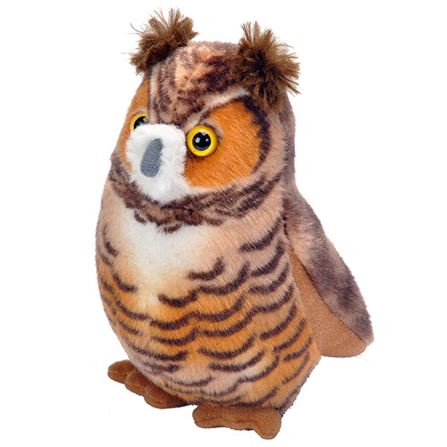 Great Horned Owl Plush Animal 4