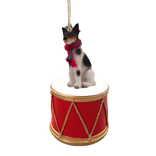 Little Drummer Rat Terrier Christmas Ornament