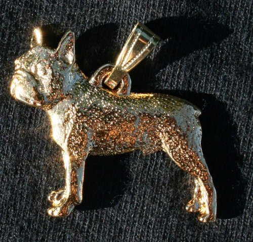 Boston Terrier 24K Gold Plated Pendant