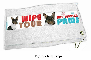 Rat Terrier Paw Wipe Towel