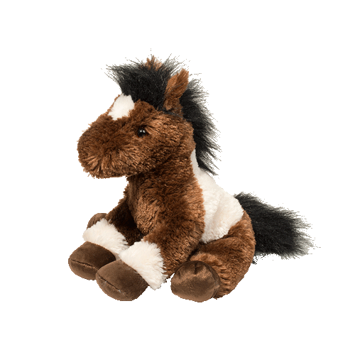 "Paint Horse Sitting 12"" Stuffed Plush Animal"