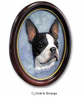 Boston Terrier Sculptured Portrait