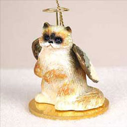 Ragdoll Cat Christmas Ornament Angel