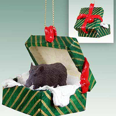 Razorback Gift Box Christmas Ornament