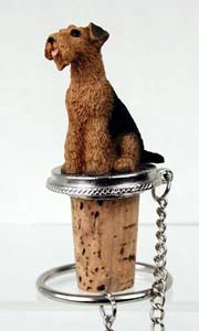 Airedale Terrier Bottle Stopper