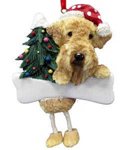 Airedale Terrier Christmas Tree Ornament - Personalize