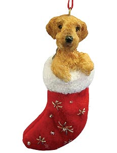 Airedale Terrier Christmas Stocking Ornament